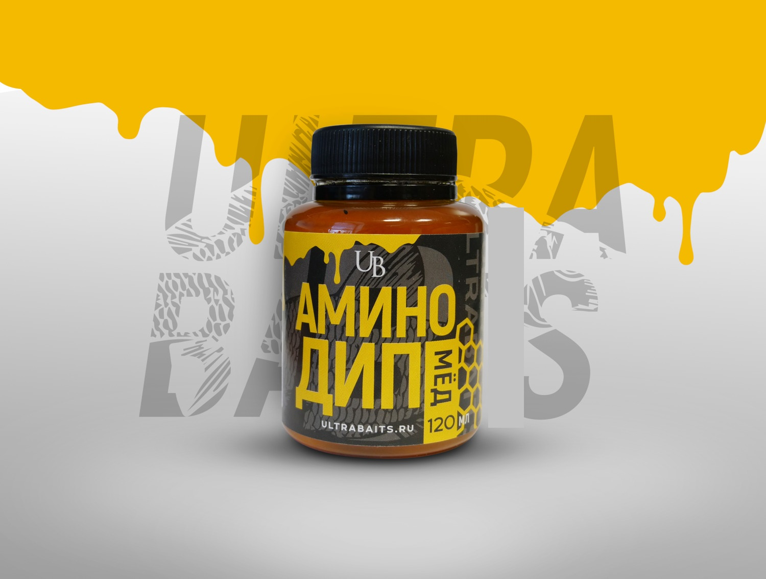 Аминодип Ultrabaits  Honey 120 мл   Мёд