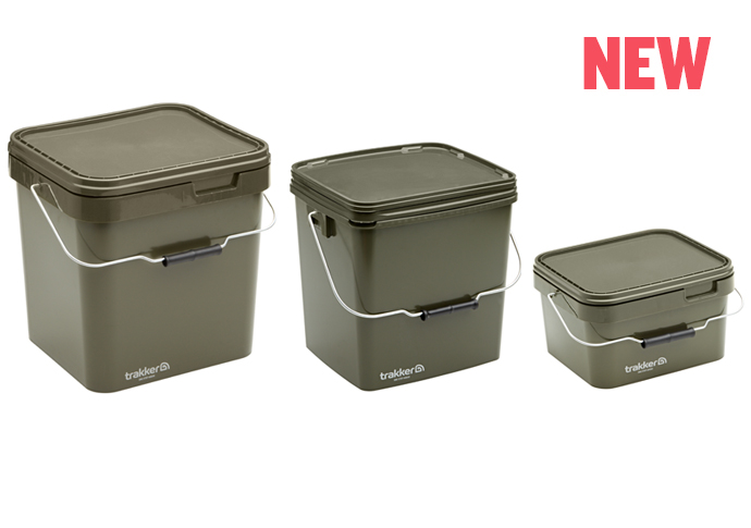 Квадратное ведро для прикормки Trakker Olive Square Containers 5л
